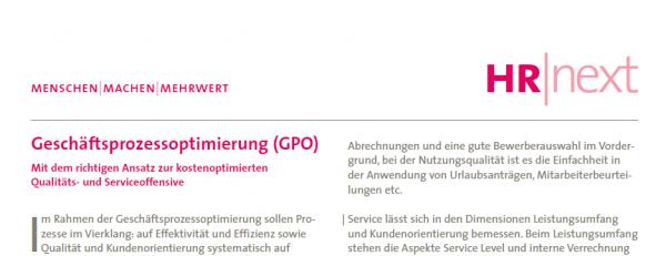 Geschäftsprozessoptimierung (GPO)