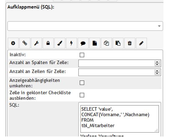 PLS Daten aus einer Auswahltabelle