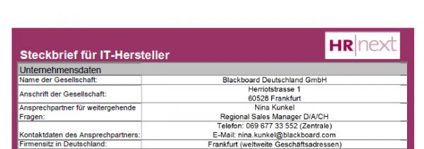 Blackboard Deutschland GmbH