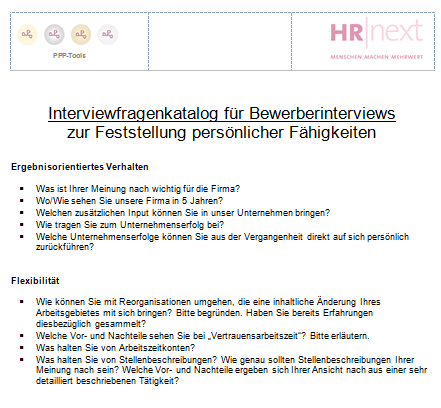Interviewfragenkatalog