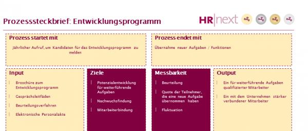 Prozesssteckbrief Entwicklungsprogramm