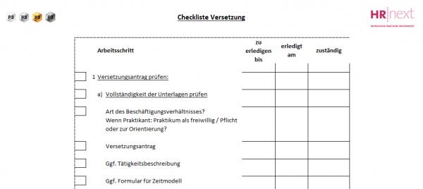 6 Checkliste Versetzung