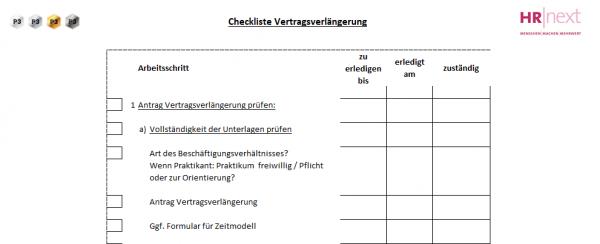 4 Checkliste Vertragsverlängerung