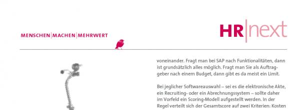 HR-Softwareauswahl