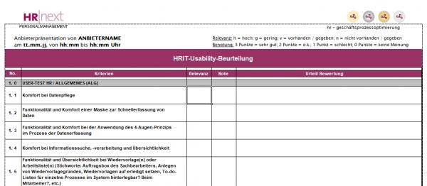 HRIT-Usability-Test für Payrollsysteme Abrechner