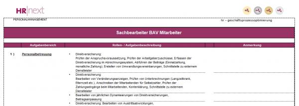 Rollen-/Aufgabenbeschreibung SB Altersvorsorge