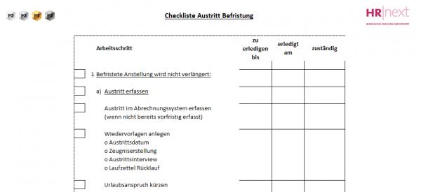 7.2 Checkliste Austritt Befristung | Rollentrennung | HR ...