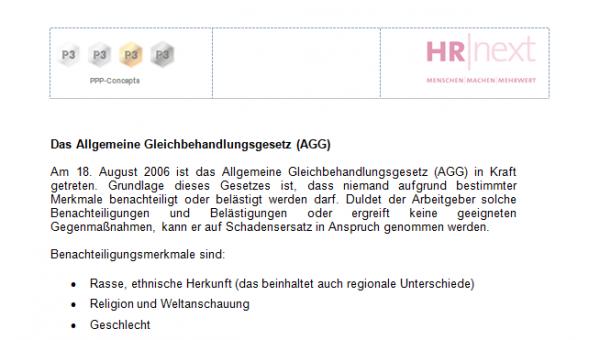 AGG Info an Mitarbeitende