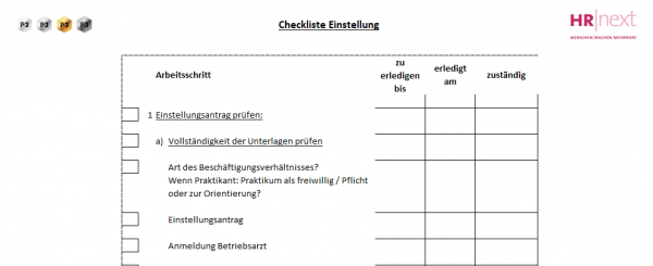 2 Checkliste Einstellung