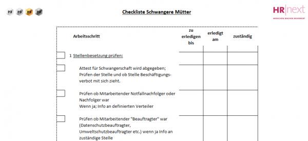 8.1 Checkliste Schwangerschaft / Mutterschutz
