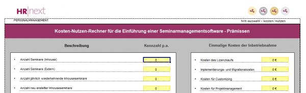 KOSTENLOS: Kosten-Nutzen-Rechner für Weiterbildungs-/Seminarverwaltungssysteme