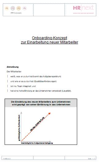 Onboarding-/Einarbeitungsprogramm
